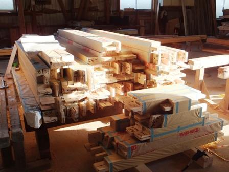 木材の搬入