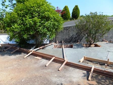 庭づくり コンクリート打設