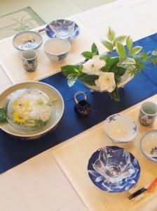 夏のテーブルコーデ