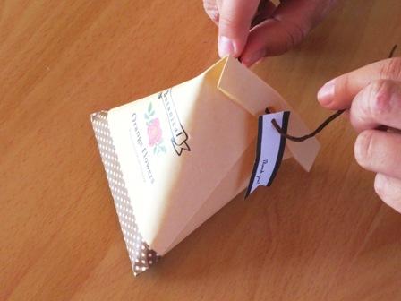テトラ型ラッピングの作り方